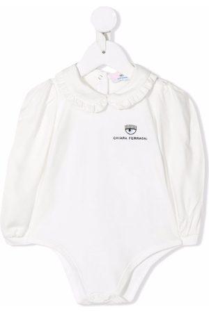 Chiara Ferragni Embroidered-logo cotton body