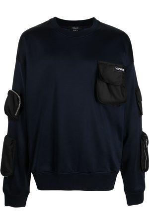 VERSACE Multi-pocket crew-neck sweatshirt