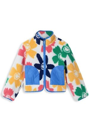 Stella McCartney Girls Fleece Jackets - Little Girl's & Girl's Smiley Flowers Teddy fleece Jacket