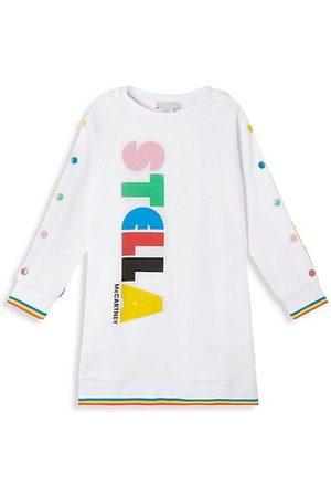 Stella McCartney Girls Sweatshirts - Little Girl's & Girl's Bold Logo Sweatshirt Dress
