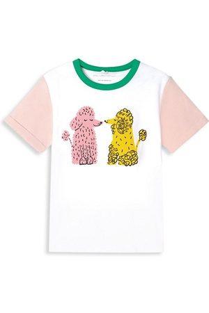 Stella McCartney Girls Short Sleeve - Little Girl's & Girl's Colorblock Poodle Tee