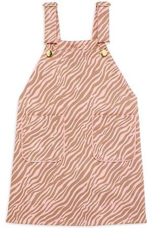Imoga Girls Printed Dresses - Little Girl's & Girl's Zebra-Print Overalls Dress