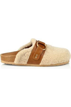 See by Chloé Gema Shearling Driver Slippers