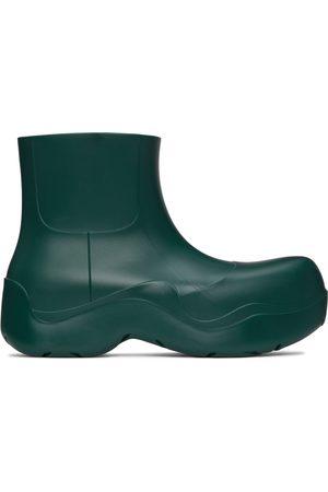 Bottega Veneta Green Matte Puddle Chelsea Boots