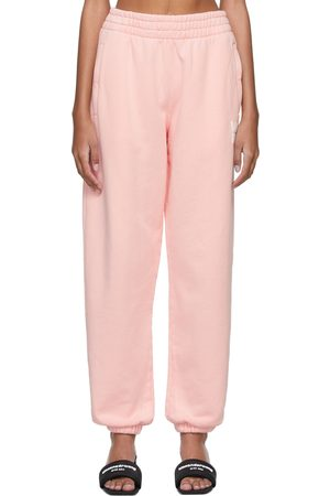 Alexanderwang.t Pink Structured Terry Puff Logo Lounge Pants