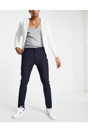 Topman Skinny recycled polyester trousers in navy
