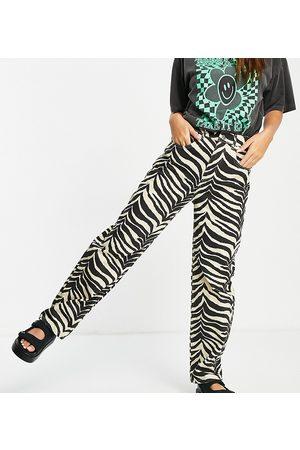 Reclaimed Women Sets - Inspired 90's dad jeans in zebra print co-ord-Multi