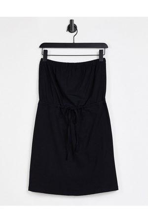 ASOS DESIGN Mini bandeau sundress with drawstring waist in