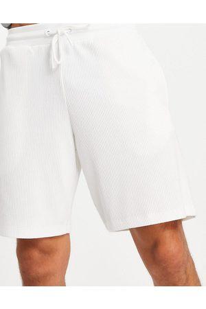ASOS DESIGN Co-ord oversized shorts in slinky rib