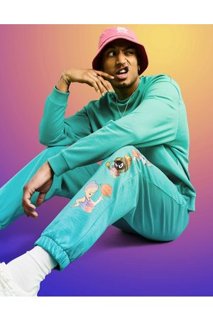 ASOS Men Sets - Space Jam: A New Legacy co-ord jogger with character print in teal