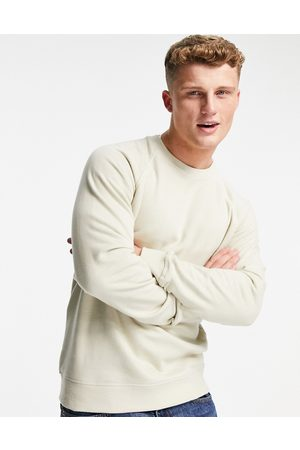 Only & Sons Co-ord crew neck sweat in washed -Neutral