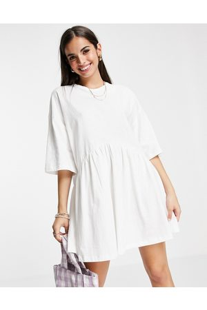 ASOS Women Casual Dresses - Oversized mini smock dress with dropped waist in
