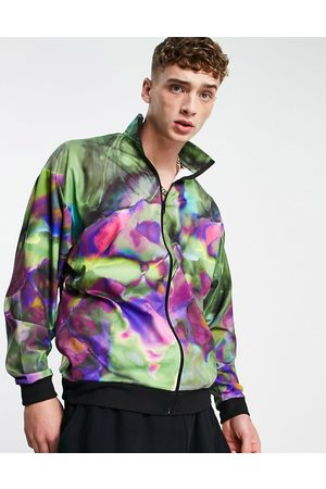 ASOS Co-ord festival oversized track jacket with all over print-Multi