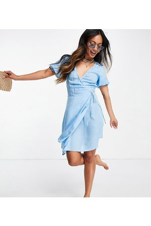 Esmée Women Beach Dresses - Esmee Exclusive wrap mini beach dress in pastel