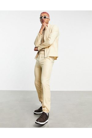 ASOS Men Sets - Co-ord smart track jacket in stone-Neutral