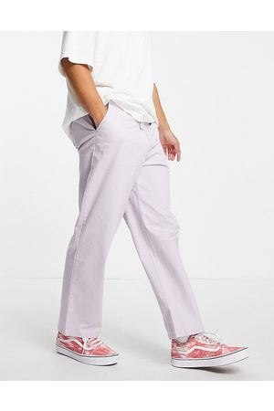 ASOS Wide fit chinos in lilac