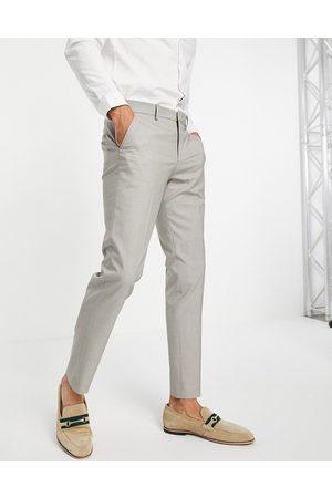 SELECTED Men Skinny Pants - Slim suit trouser in sand