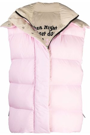 Msgm Hooded down-filled gilet