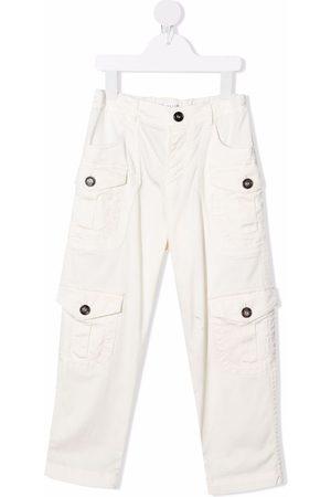 Brunello Cucinelli Flap-pockets cotton trousers