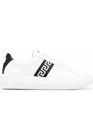 VERSACE Men Sneakers - Greca stripe low-top sneakers