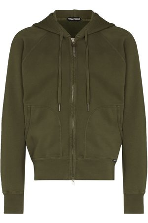 Tom Ford TF VINTAGE DYED ZIP HD SWT GRN