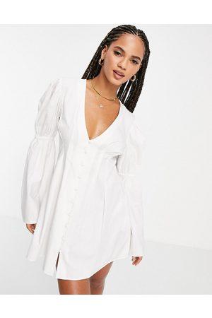 ASOS Women Beach Dresses - Button front beach dress in cotton