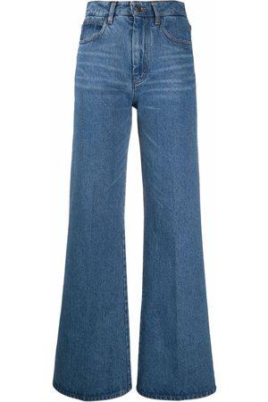 Ami High-waisted flared jeans
