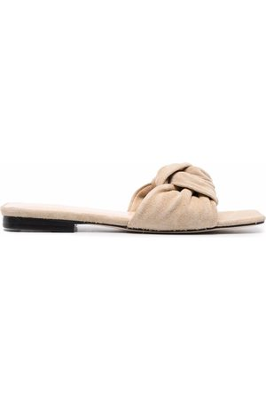 By Far Women Sandals - Suede-knot sandals