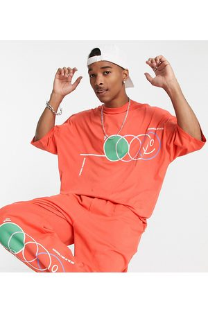 ASOS Men Sets - ASOS Daysocial co-ord oversized t-shirt with multi abstract shape print in