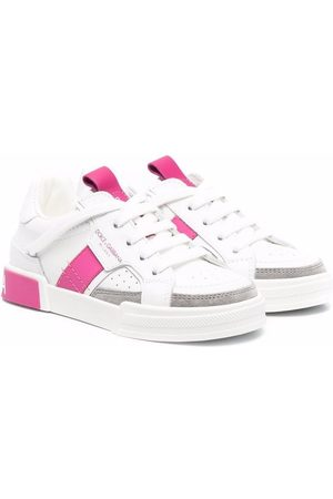 Dolce & Gabbana Colour-block leather sneakers