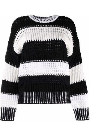 3.1 Phillip Lim Stripe-pattern crew-neck jumper