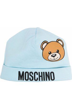 Moschino Teddy Bear-print cotton beanie