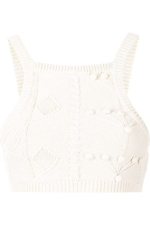 Alice McCall Women Tank Tops - Songbird knitted cropped top
