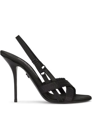 Dolce & Gabbana 105mm cross-strap sandals