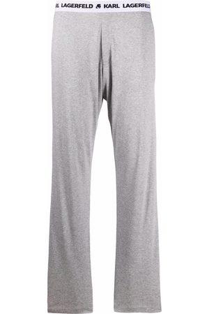 Karl Lagerfeld Logo band pajama trousers
