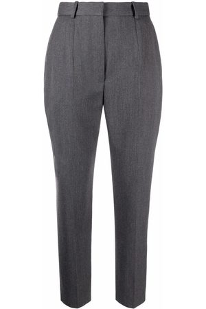 Alexander McQueen Women Pants - Cropped high-waisted trousers