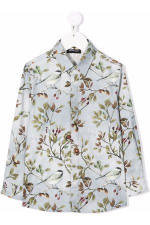 MONNALISA Bird-print cotton shirt
