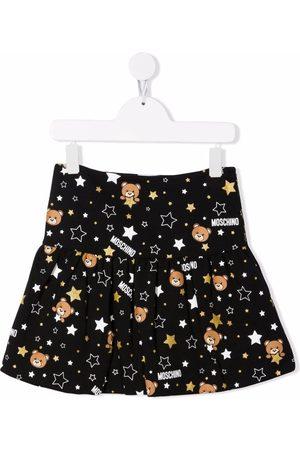 Moschino Teddy bear-motif cotton skirt