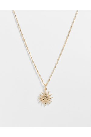 ASOS Women Necklaces - Necklace with sun pendant in tone