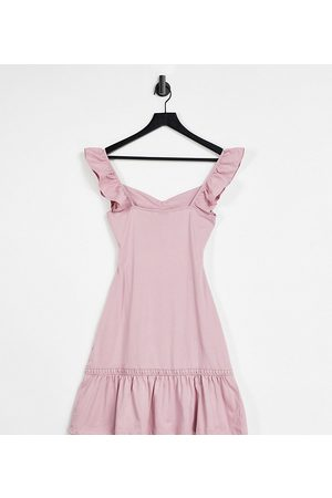 ASOS Women Casual Dresses - Tall cut out sundress with ruffle shoulder in rose