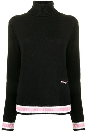 Msgm Logo-embroidered knitted jumper