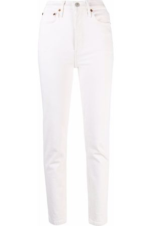 RE/DONE Women Straight - Comfort Stretch ankle-crop jeans