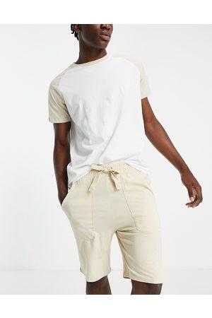 ASOS Lounge pyjama set with raglan t-shirt-Multi
