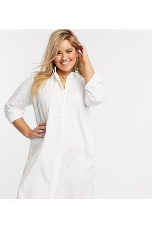 ASOS Curve ASOS DESIGN Curve cotton mini shirt dress in