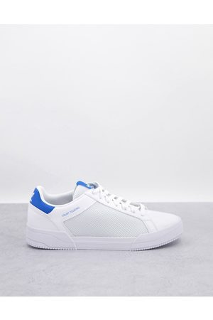 adidas Originals Court Tourino trainers in with blue heel tab