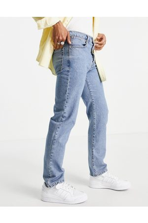 Topman Straight jeans in mid wash
