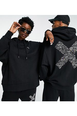 Collusion X EXIST LOUDLY Unisex oversized hoodie with print in co-ord