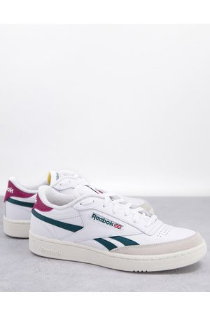 Reebok Club C Revenge trainers in and forest green