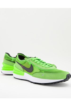 Nike Waffle One mesh trainers in electric
