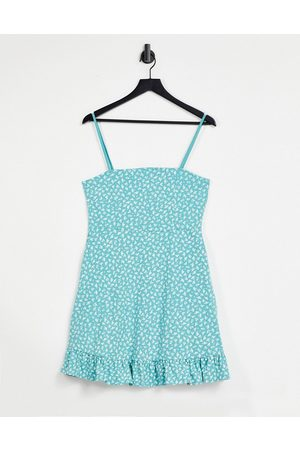 ASOS DESIGN Strappy sundress with pep hem in floral